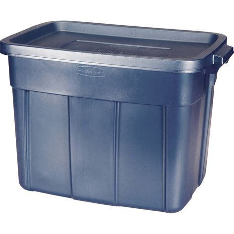 Blue Rubbermaid Small rubbermaid roughneck storage tote bins 72 qt 18 gal