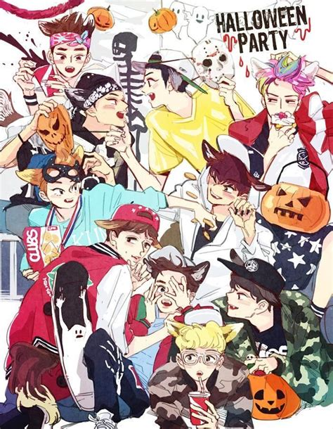 exo chibi iphone wallpaper exo halloween kpop kdrama addiction vol2 pinterest
