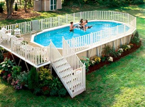 40 uniquely awesome above ground pools with decks