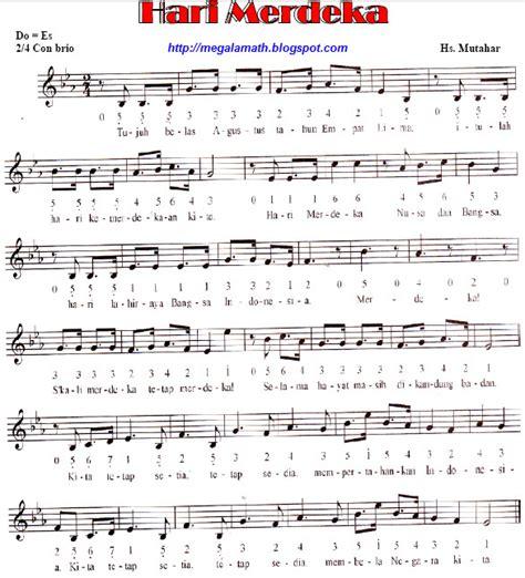 not angka lagu pop indonesia not angka lagu wajib indonesia megalamath blog not angka