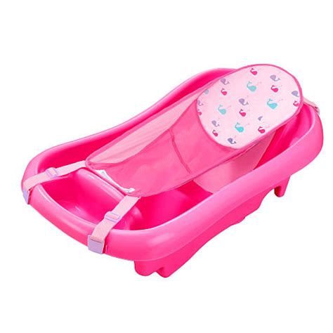 Baby Bathtub Sling by Deluxe Newborn To Toddler Tub Pink Baby Bath Tub W Sling
