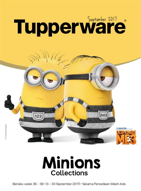 Promo Minion Papoy Mug by Katalog Tupperware September 2017 Tupperware Promo