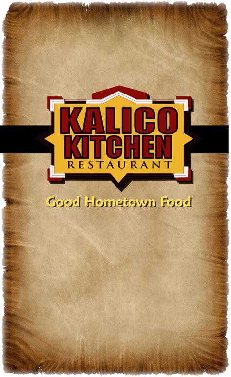 Kalico Kitchen Menu by Portfolio