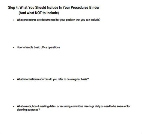 how to write a procedure manual template sle procedure manual template 8 free documents in
