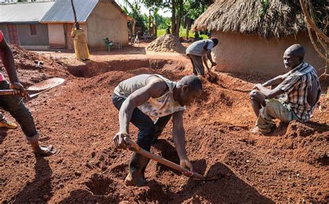 digging for gold children work in harsh conditions paid inside the makeshift goldmines of uganda where poverty