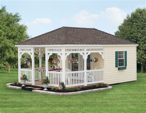 20 x 12 guest house garden porch shed plans p72012 the amish group signature sheds
