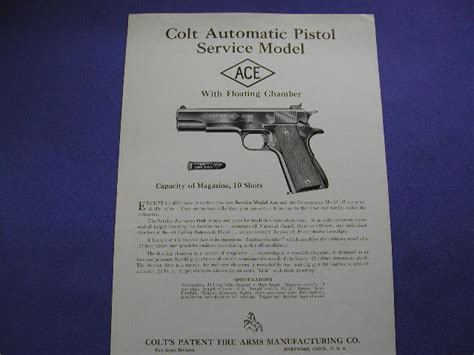 Colt Ace Service Model Owners Manual