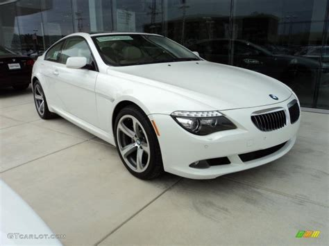 2008 bmw 650i alpine white 2008 bmw 6 series 650i coupe exterior photo