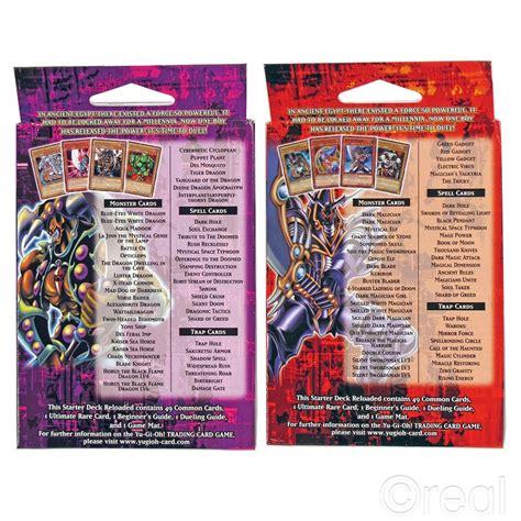 yugi reloaded starter deck card list new yu gi oh kaiba or yugi starter deck reloaded 50 cards