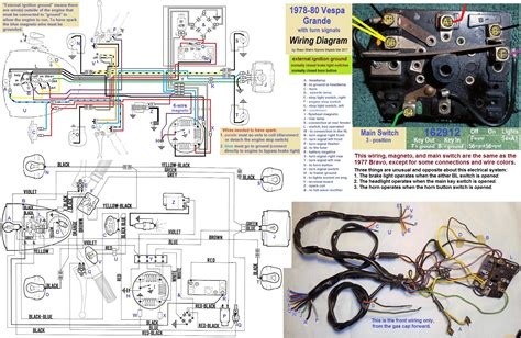 vespa p200e ignition switch wiring diagram ignition switch