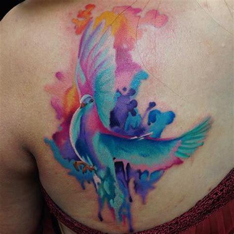 christian tattoo artist kansas city animal watercolor dove