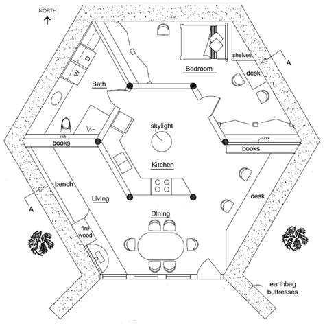 Hexagon Home Plans by Polygonal Hexagonal Etc Earthbag House Plans