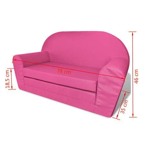 pipì a letto bambini vidaxl poltrona letto per bambini rosa vidaxl it