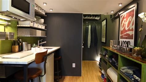150 sq ft see how one man lives in a 150 square foot apartment