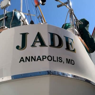 boat lettering maryland vinyl boat names by designs signs