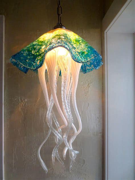 blown chandeliers blown glass chandelier jellyfish light glass