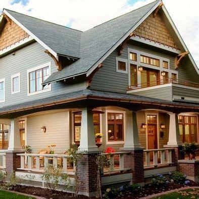 craftsman style cottage with wrap around porch hwbdo77189 craftsman style house wrap around porch balcony
