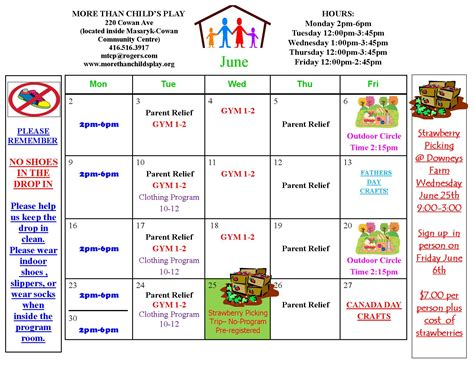 Calendar Play Monthly Activity Calendar More Than Child S Play