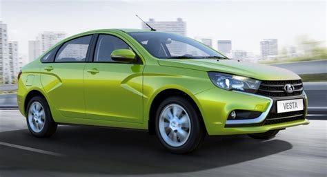 porta lada avtovaz starts production of all new lada vesta sedan w