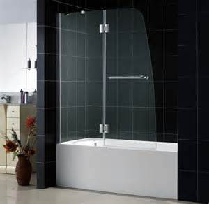 shower door on bathtub aqua plus shower door frameless shower door by dreamline