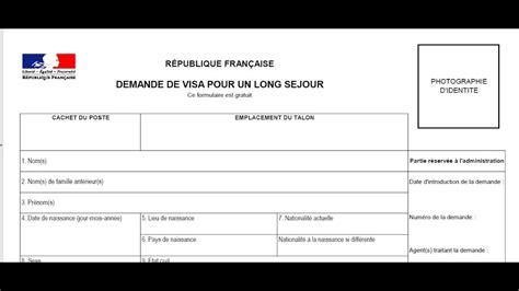 Lettre Demande Visa Court S Jour formulaire de demande de visa s 233 jour cus