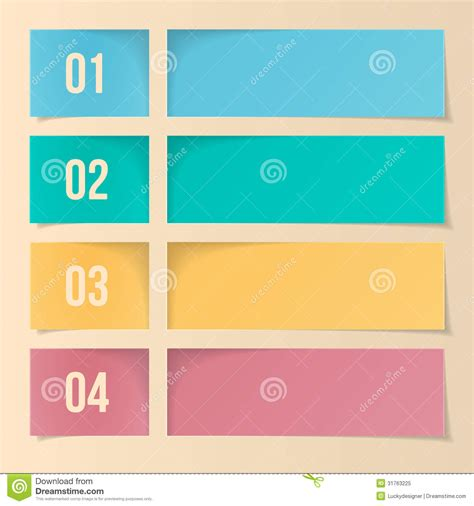 free layout design design template for infographics numbered banners web layout stock vector image 31763225