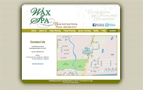 yii layout empty wax spa absolute web services