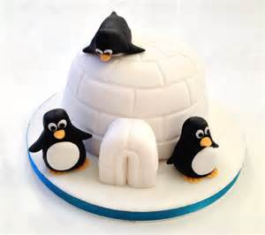 pinguin kuchen penguin cake the fondant fancy