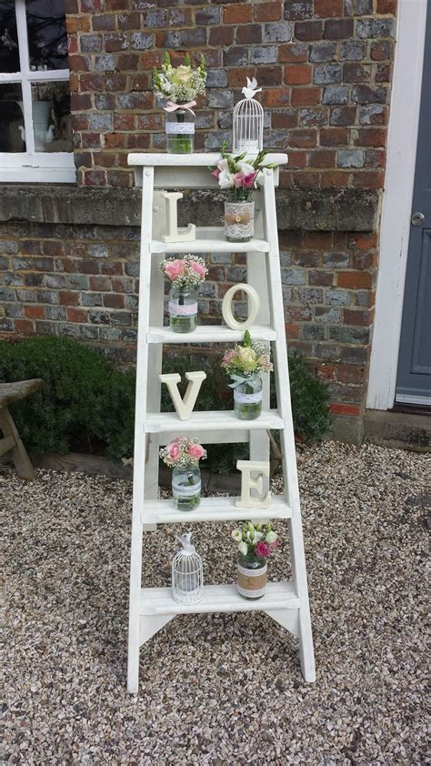 Just love our rustic step ladders and props at weddings