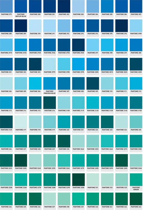 pantone colors blue pantone color chart