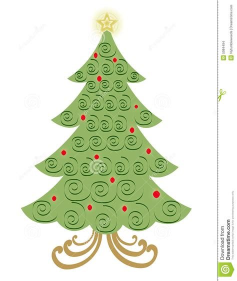 swirl christmas tree clipart clipart suggest