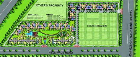 layout plan of amrapali zodiac 1225 sq ft 2 bhk 2t apartment for sale in amrapali group