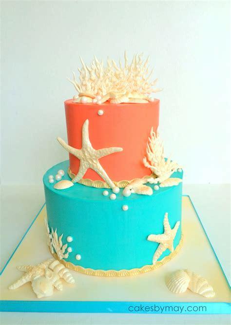 Ocean Inspired Birthday Cake   CakeCentral.com