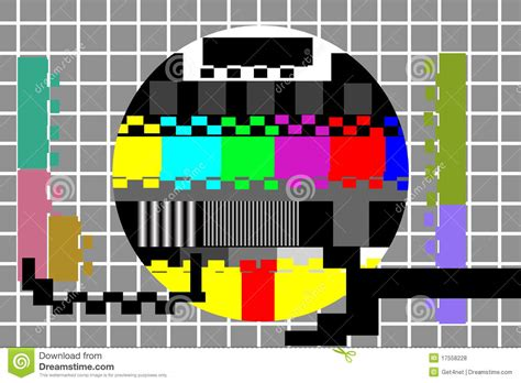 tv test pattern stock images royalty free images television color test pattern stock vector image 17558228