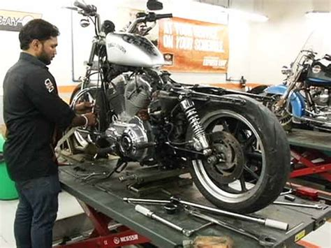 high end motorcycle servicing a high end motorcycle