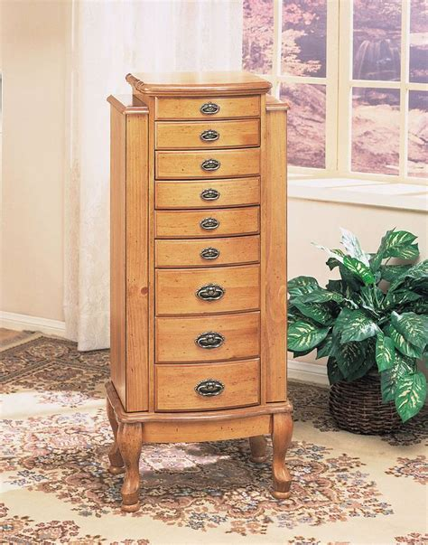 Pine Jewelry Armoire by Powell Pine Jewelry Armoire 252 Homelement