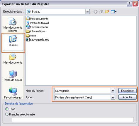 sauvegarde base registre windows seven vista xp