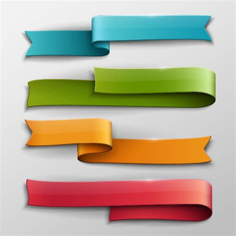 vector banner colored ribbon design free vector in vector banner colored ribbon design free vector in