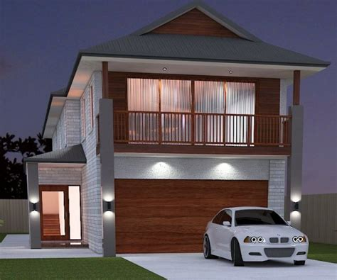 narrow block narrow house plans small land shape land