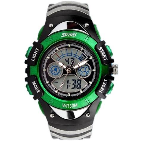 Jam Tangan Fashion 1 skmei jam tangan anak ad0998 green jakartanotebook