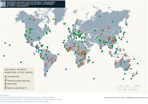 siti di patrimoni naturali unesco nel mondo minaccia inquinamento