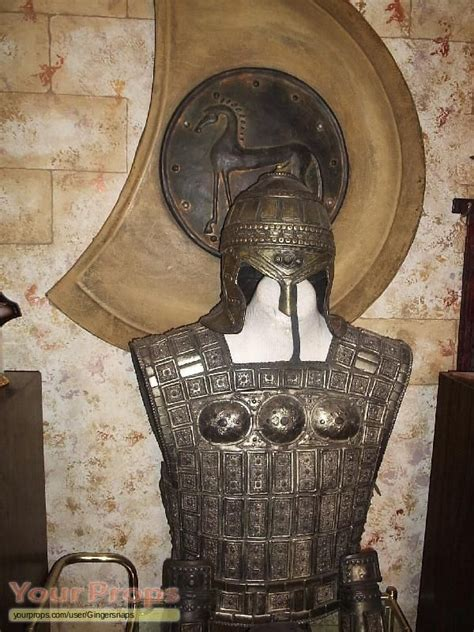 Troy Soldier armor shield trojan soldier armor and shield original prop from troy armor