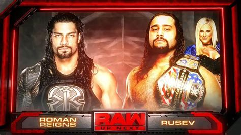 reigns vs rusev 2016 official match card