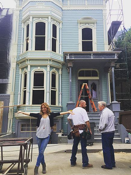 full house set full house candace cameron bure posts instagram of painted lady set people com