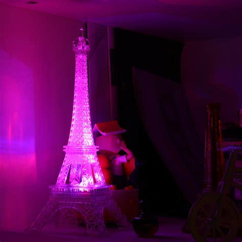 bedroom night light romantic eiffel tower color changing led night light
