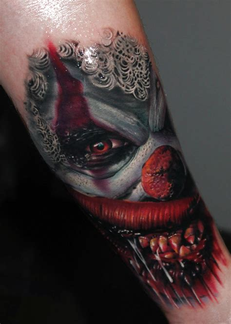 evil clown tattoo designs related pictures evil clown tattoos hairstyles evil clown