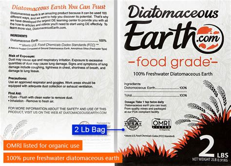 Diatomaceous Earth Food Grade 2 Lb where to buy diatomaceous earth health benefits more