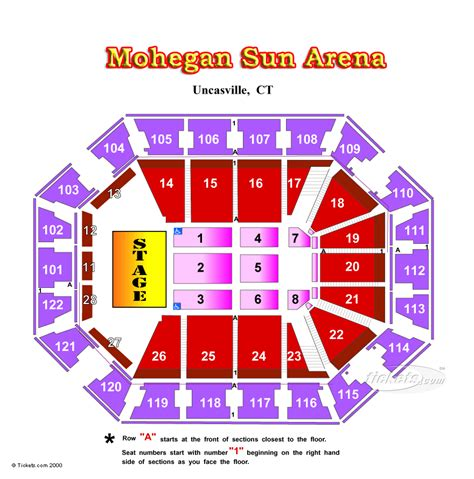 mohegan sun floor plan mohegan sun seating chart with seat numbers allstate