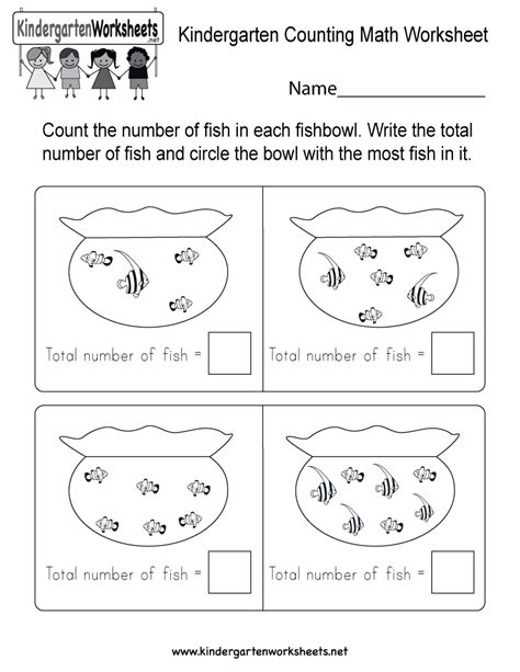 fish counting math worksheet fish best free printable