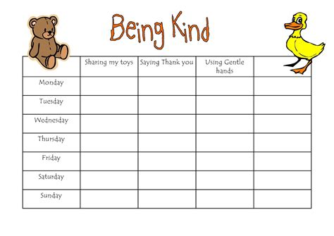 printable graphs for preschoolers reward chart printable for kids loving printable